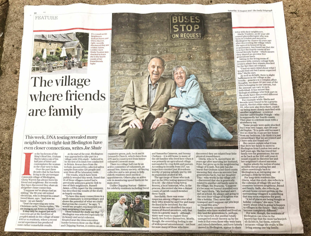 The Cotswold village of Bledington - where village life is really like living among one big family